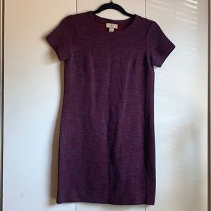 Loft purple tweed shift dress